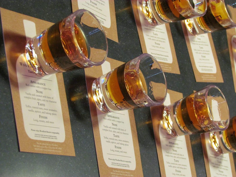 Samplings of the Woodford Reserve Bourbon