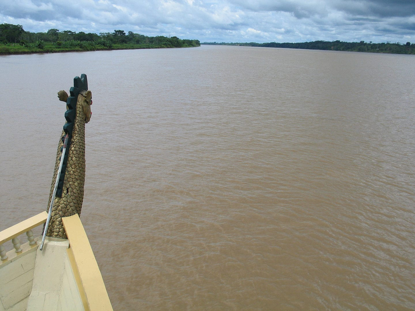 Sailing the Amazon Rainforest on a boat