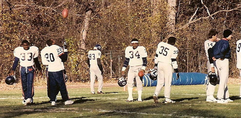 Football players on the field