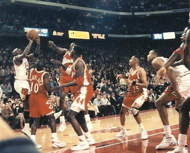 MJ goes for a winning shot