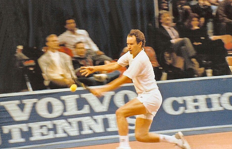 John McEnroe doing a backhand strike