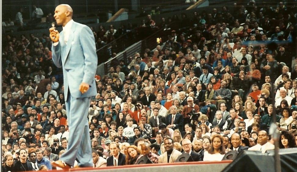 Michael Jordan gives his retirement speech