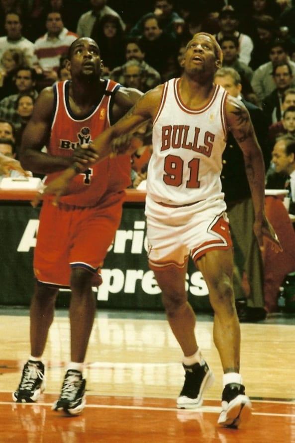 An image of Dennis Rodman and Chris Webner