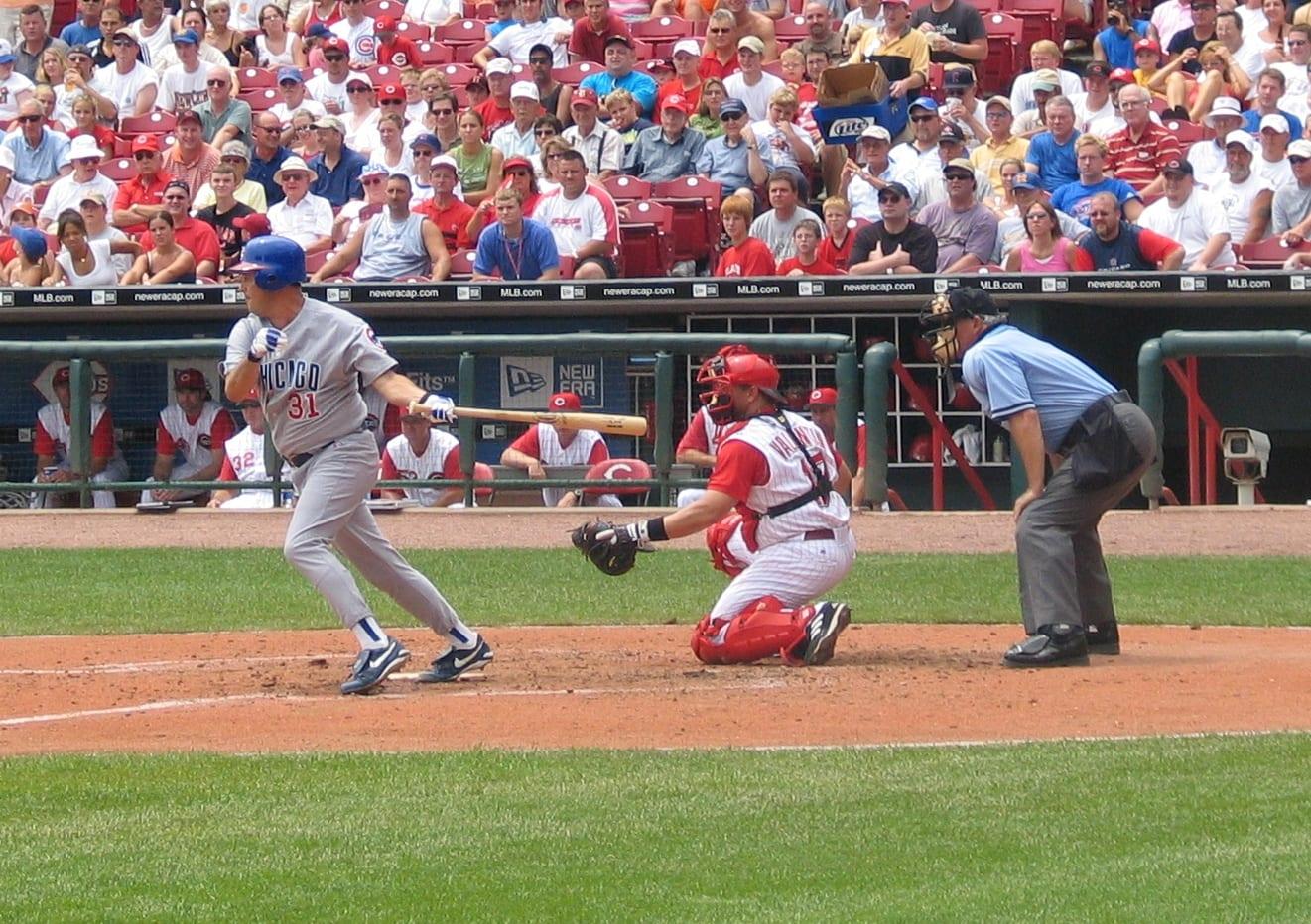 Two baseball players
