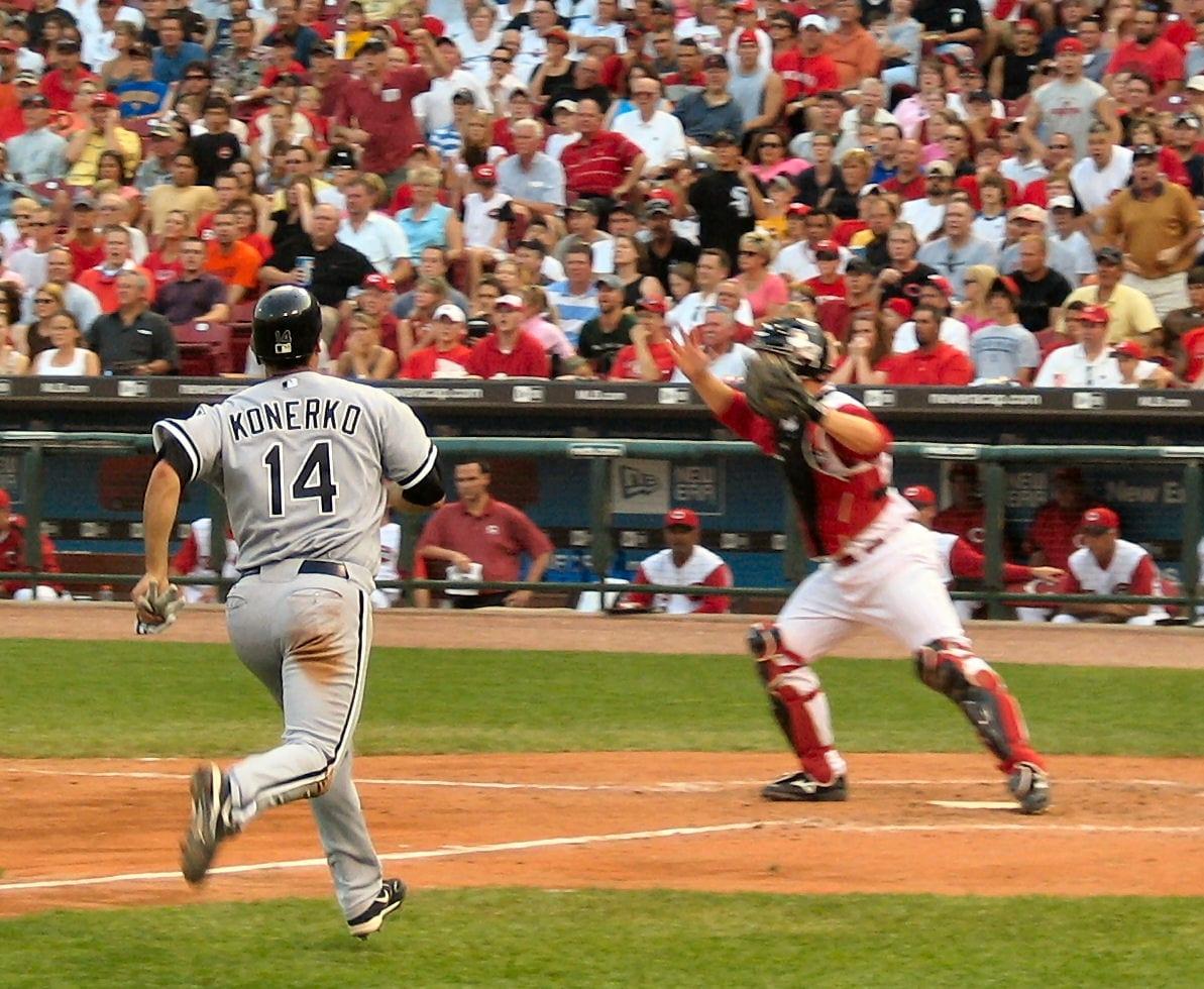 An ongoing baseball match