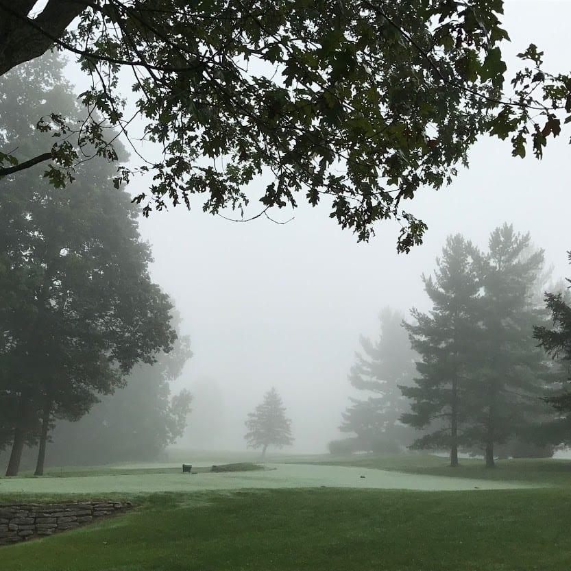 A foggy O'Bannon Creek Golf Club