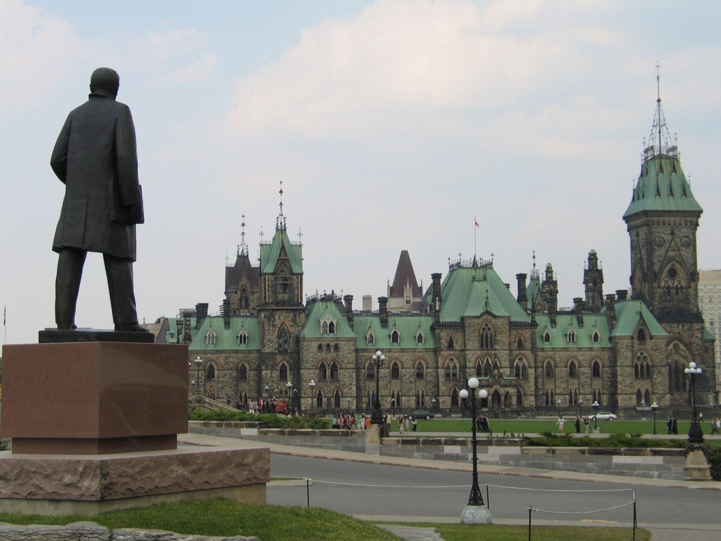 A view of a building in Ottawa