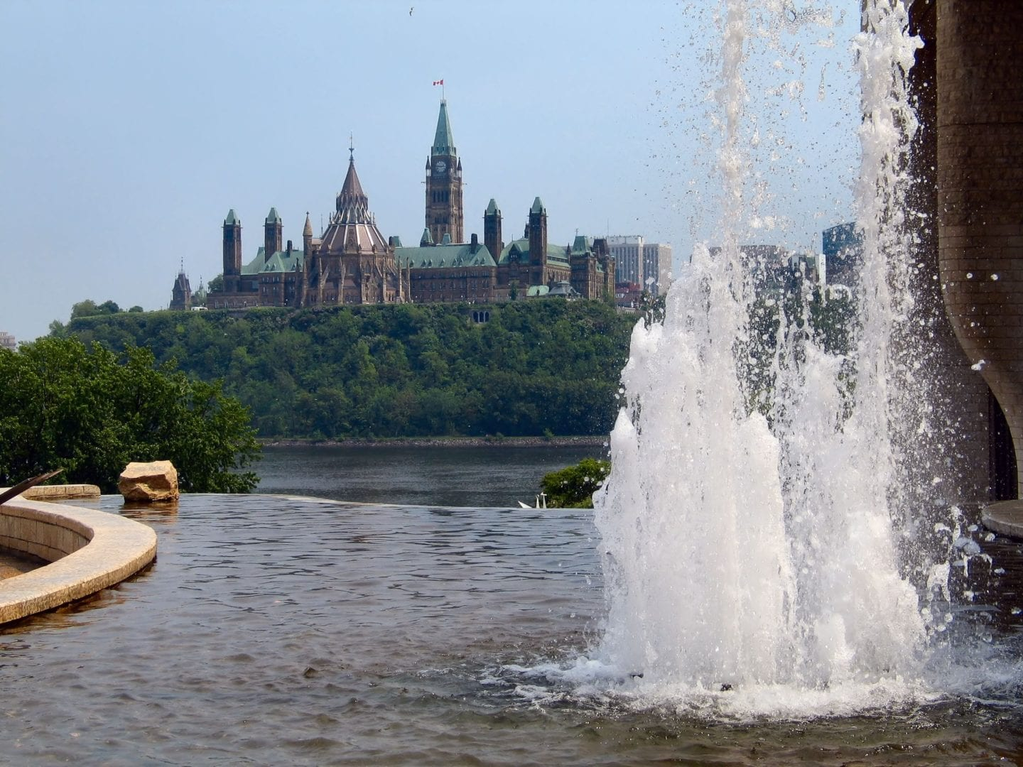 Water features in Ottawa