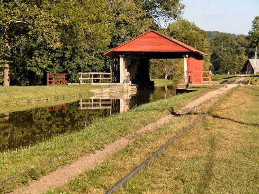 A shed and a waterway