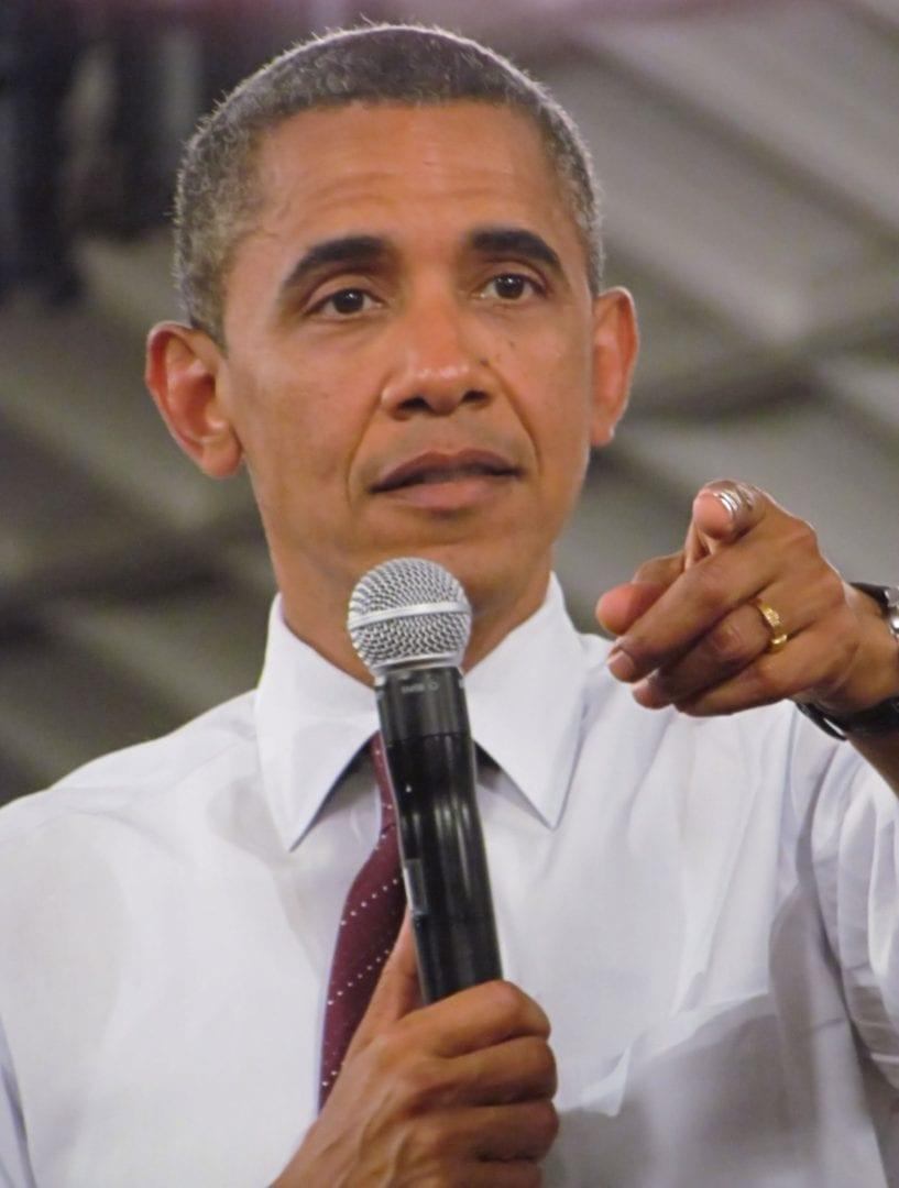 Barrack Obama pointing a finger