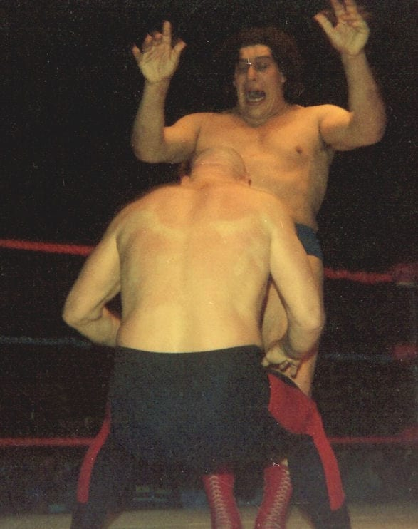 Andre The Giant fighting Baron VonRaschke