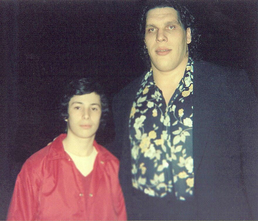 Andre The Giant with young Dave