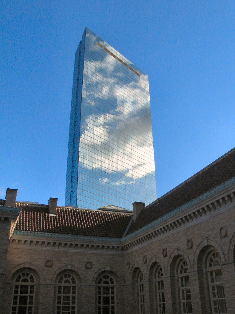 A view of the Boston Hancock building