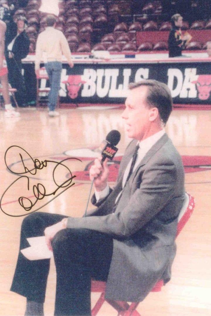 An autographed photo of Doug Collins