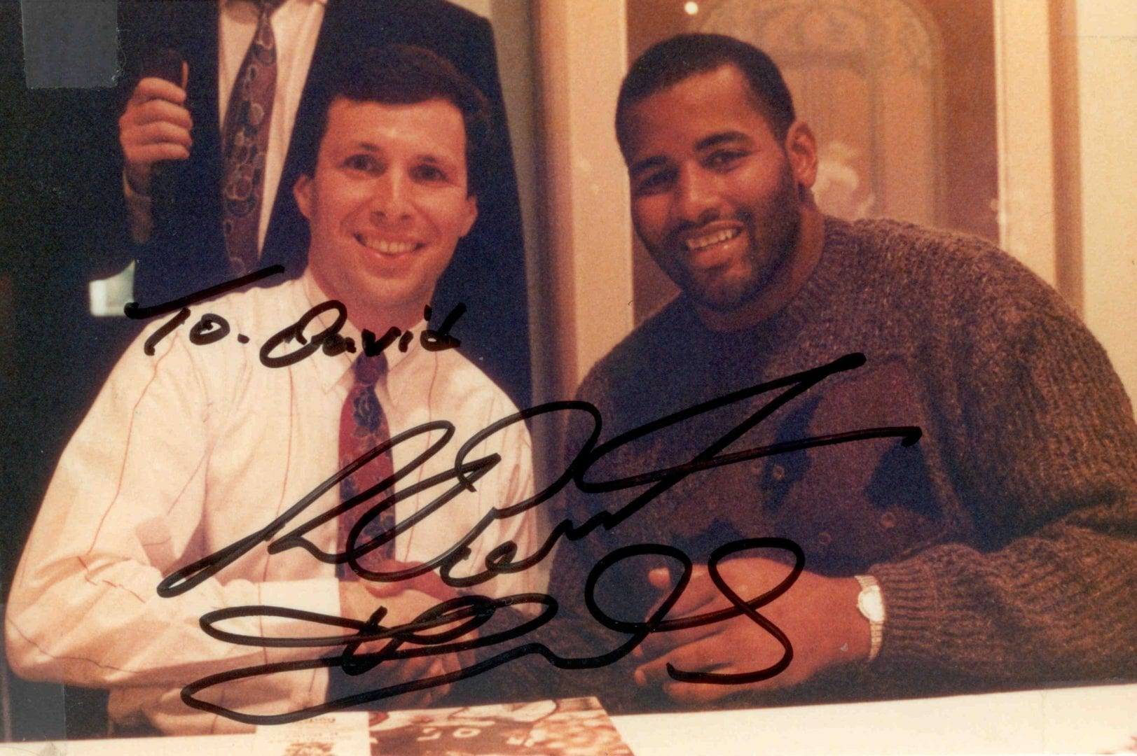 Richard Dent's autographed photo