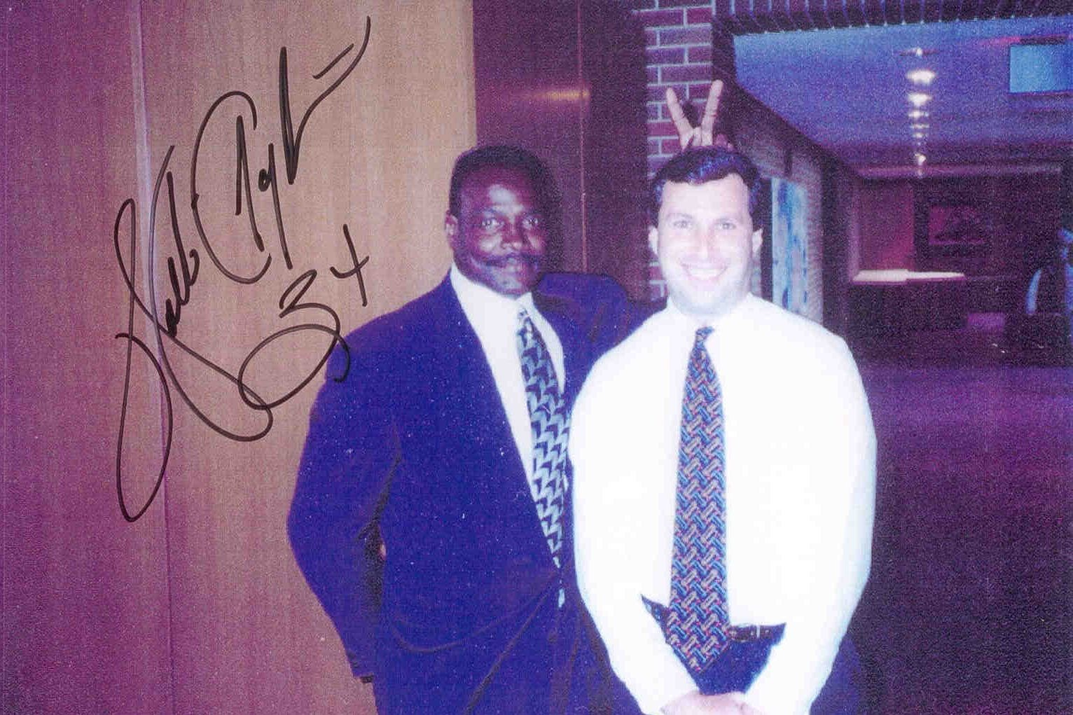 An autographed photo of Walter Payton