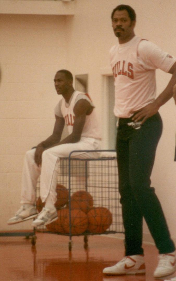 Michael Jordan during practice