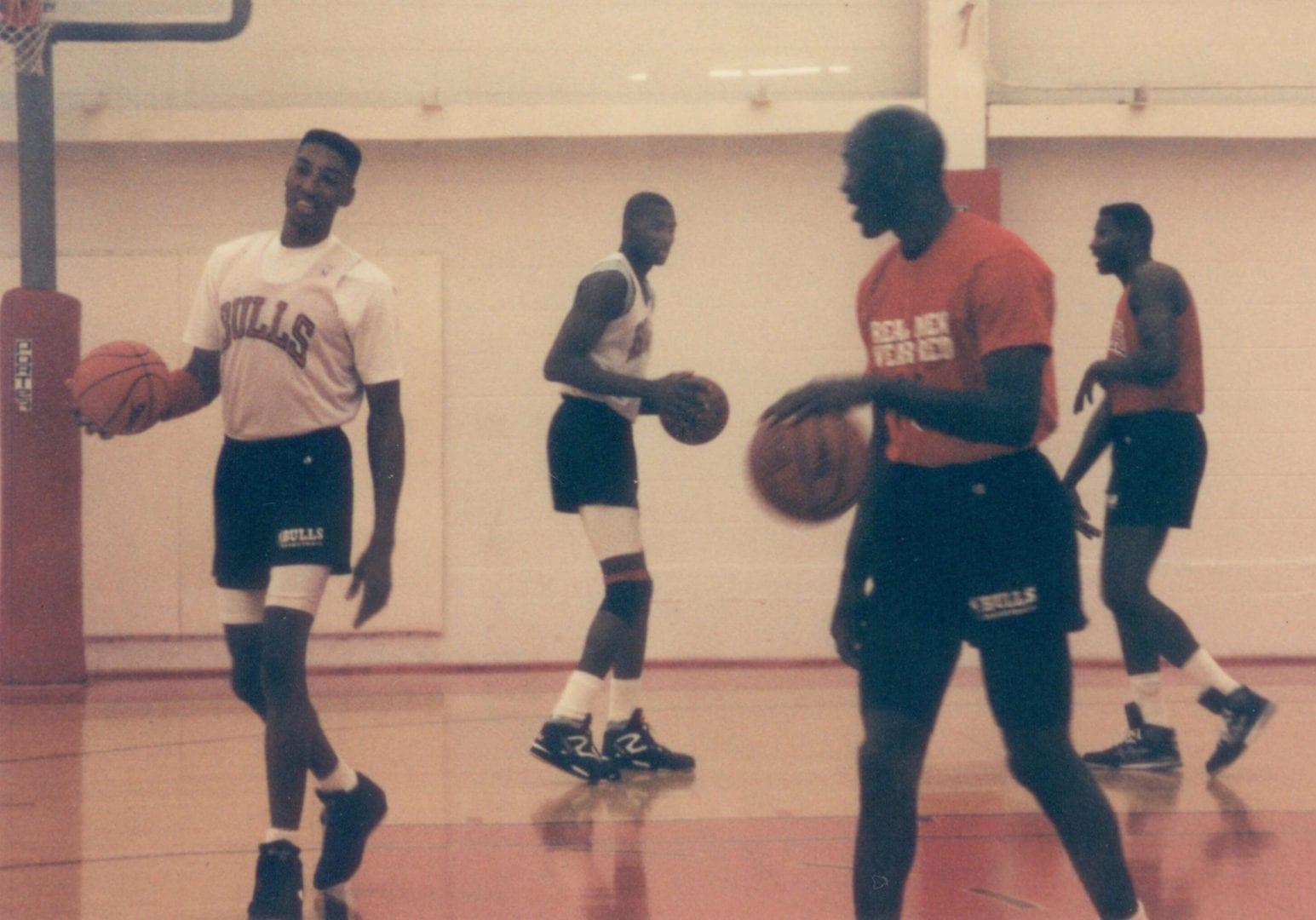 Bulls doing their practice