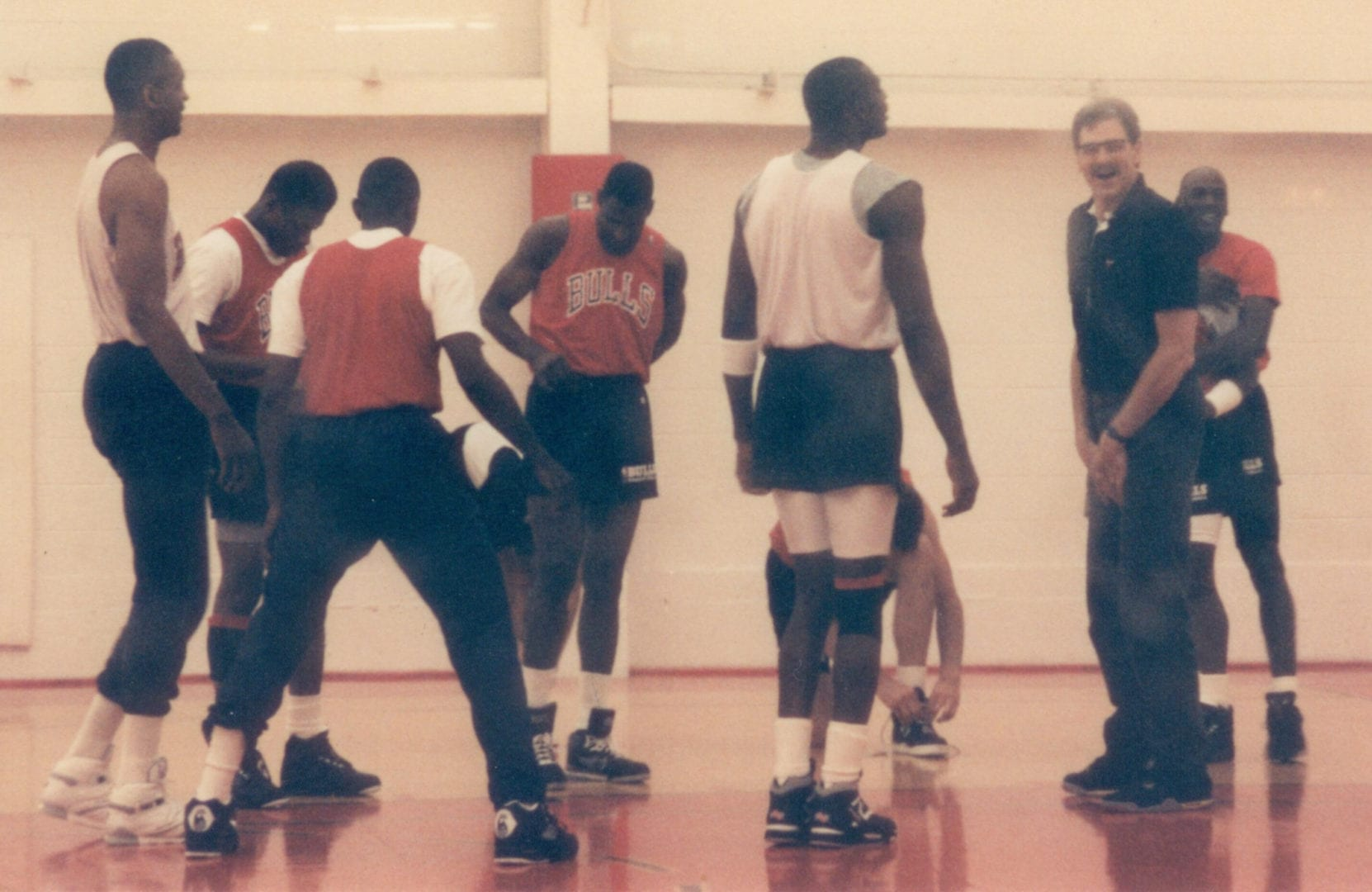 Coach Jackson with his players