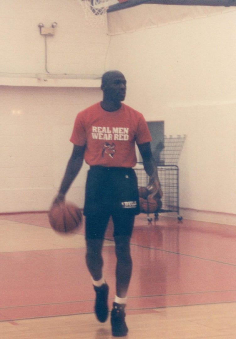 Michael Jordan practicing