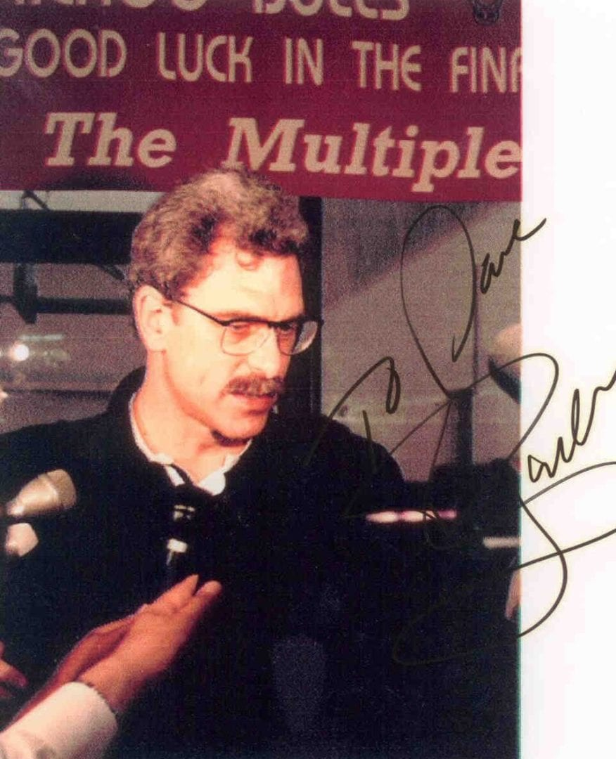 An autograph of Phil Jackson
