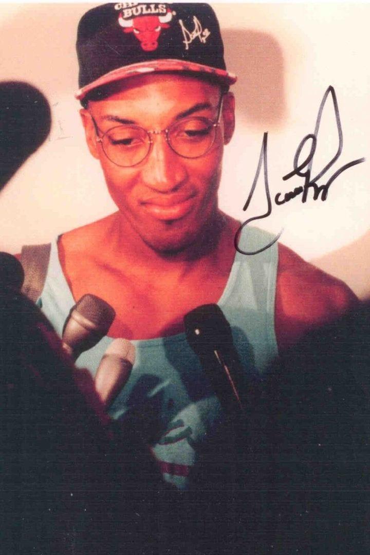 An autograph of Scottie Pippen