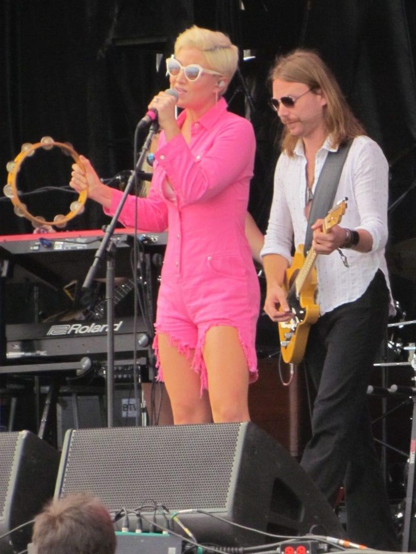 Maggie Rose wearing pink