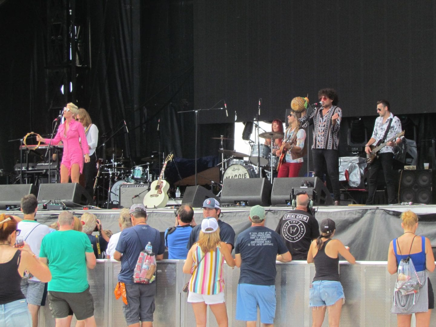 Crowds near Maggie Rose and the stage