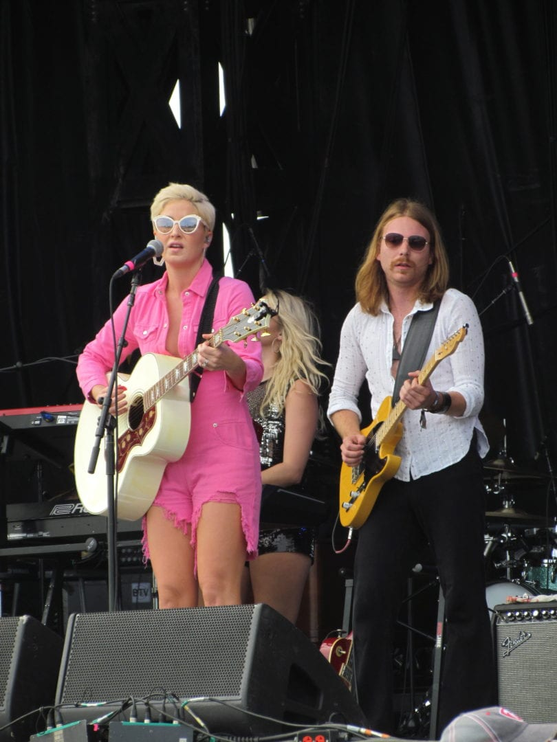 Maggie Rose and her band playing music