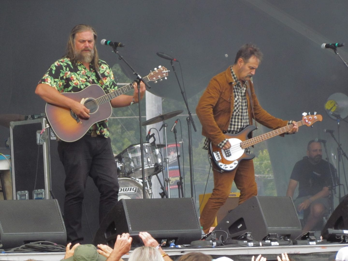 The White Buffalo band on stage