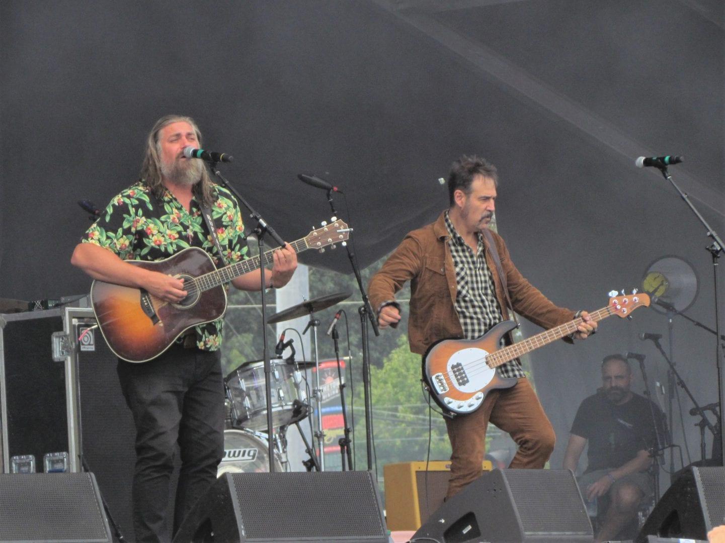 The White Buffalo playing their guitars