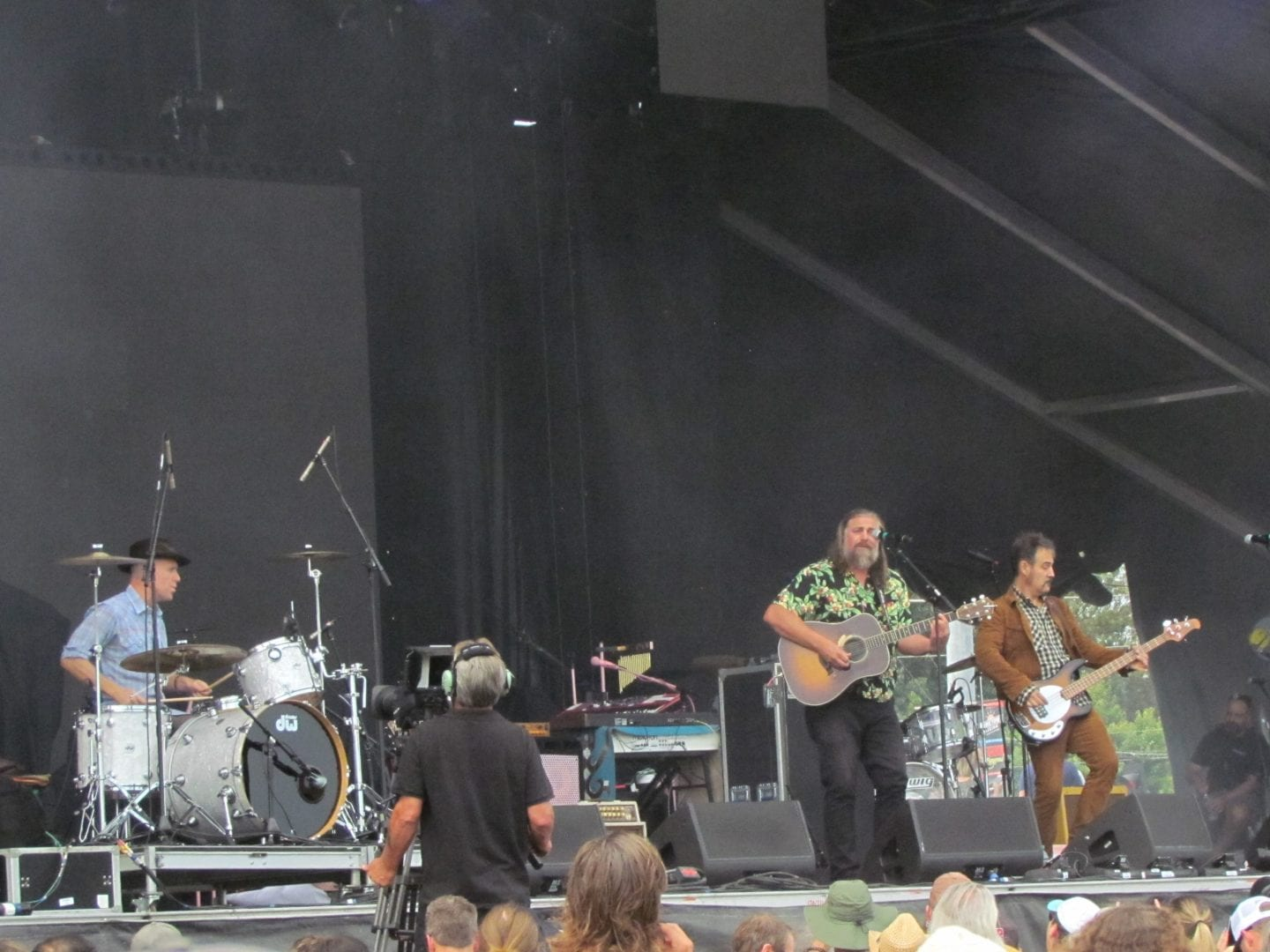 The White Buffalo performing on stage