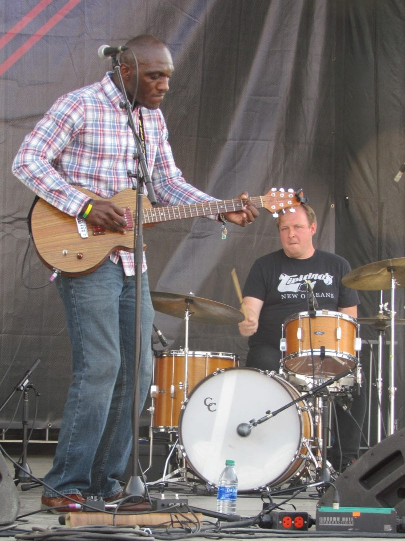 Cedric Burnside performing on stage