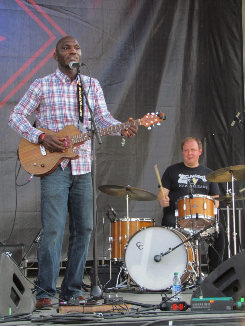 Cedric Burnside performing with his band
