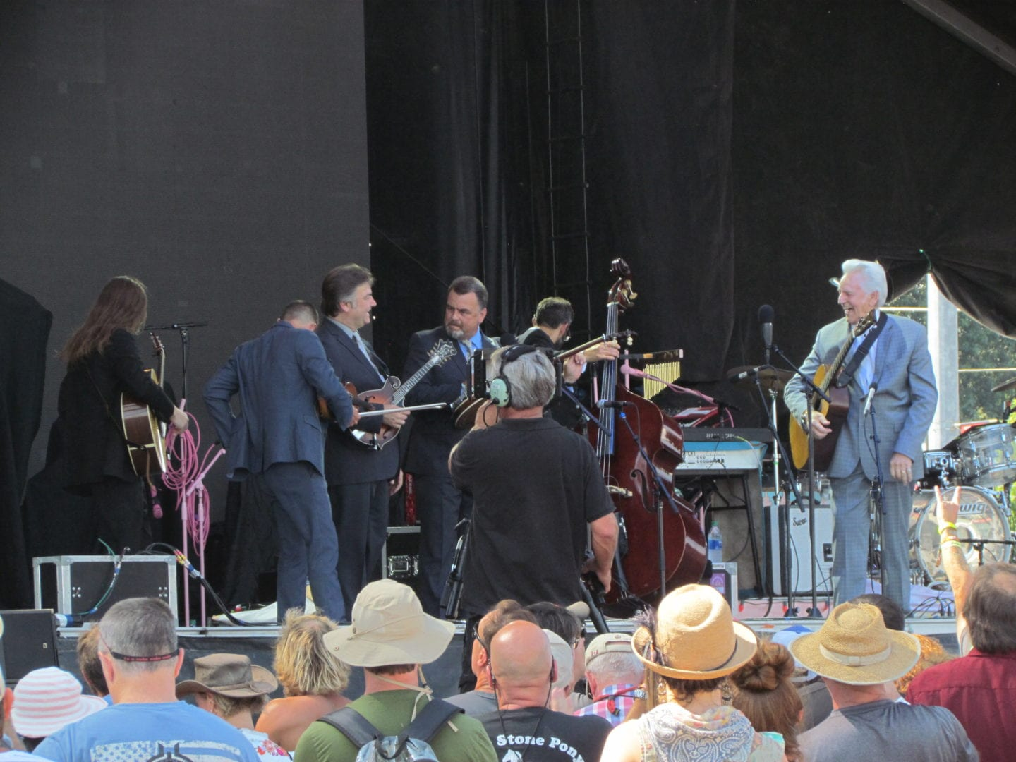 An image of Del McCoury and the band
