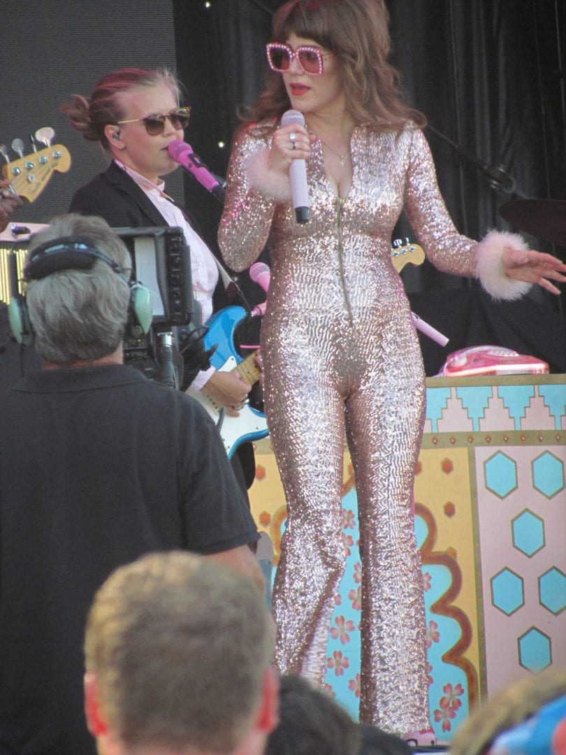 Jenny Lewis in her sparkling attire