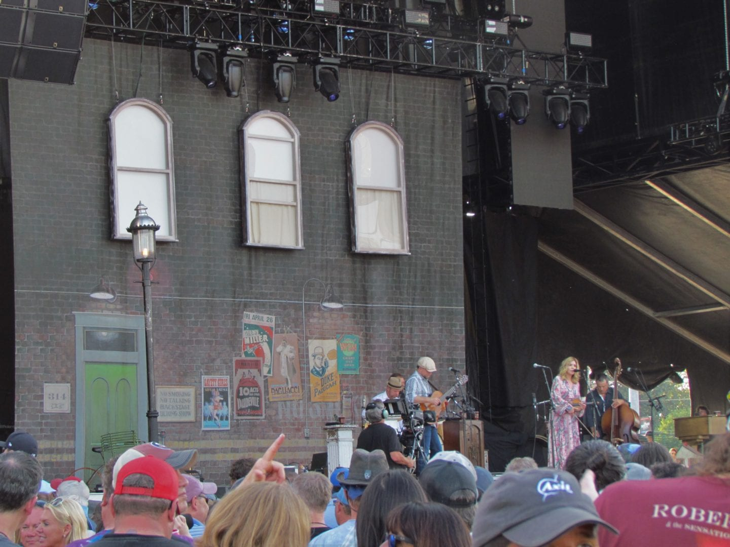 Alison Krauss performing on stage