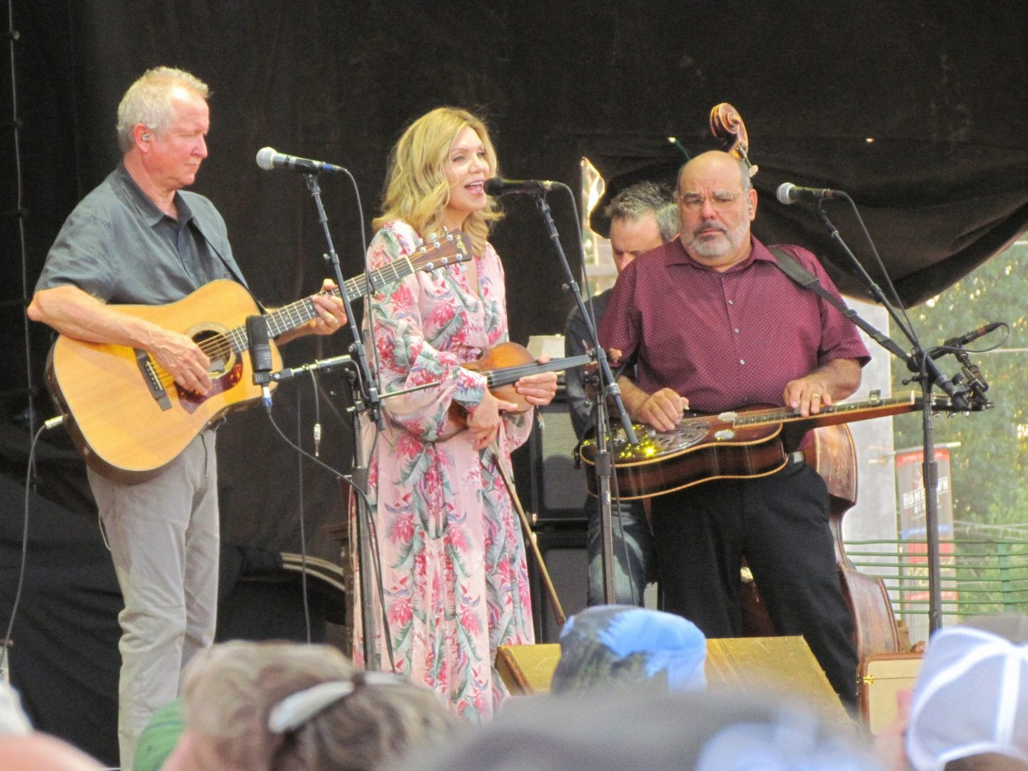 Alison Krauss playing music with her band