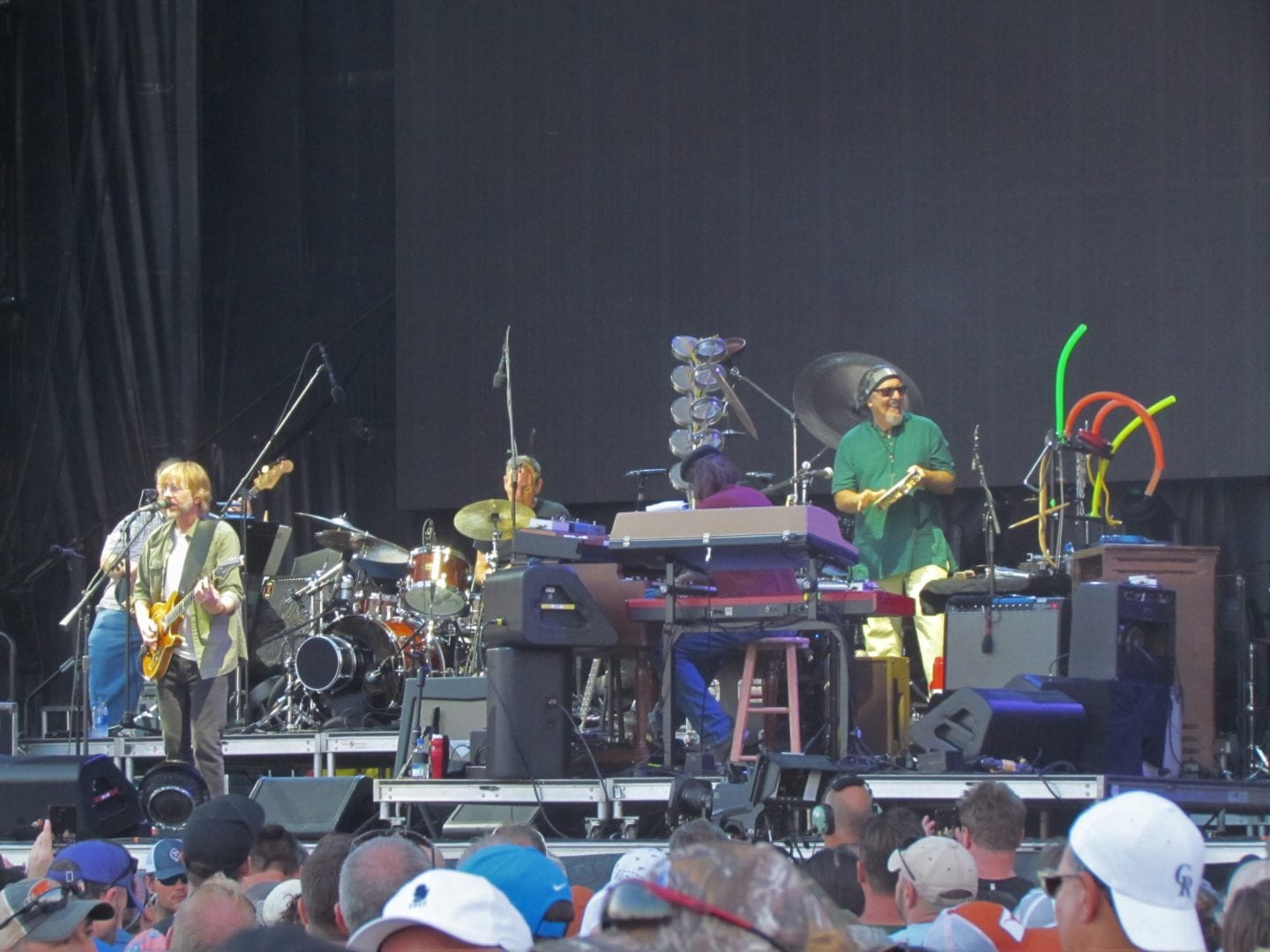 Trey Anastasio and his band up on the stage