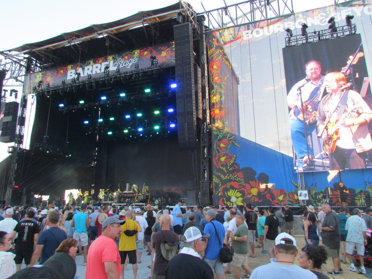 Trey Anastasio on stage with a band