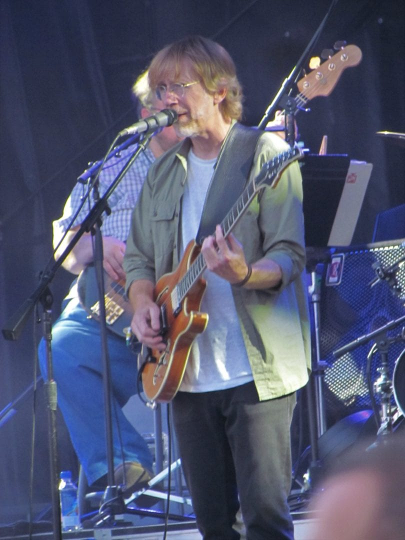 Trey Anastasio and his band during performance