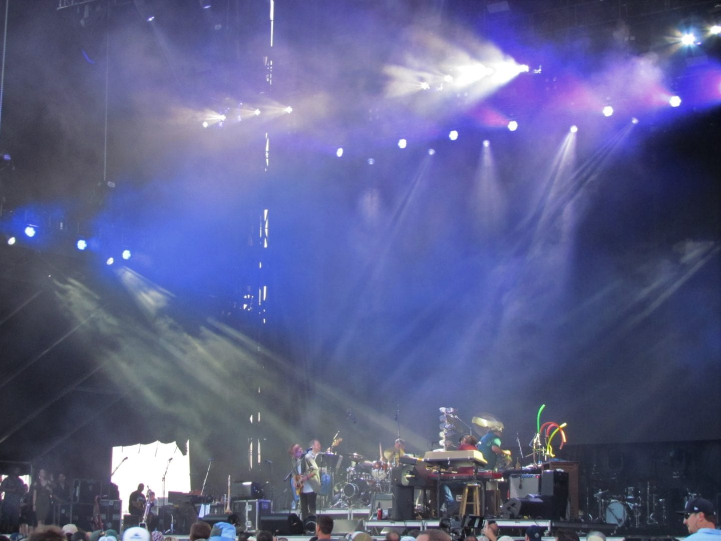 Trey Anastasio performing on stage with his band