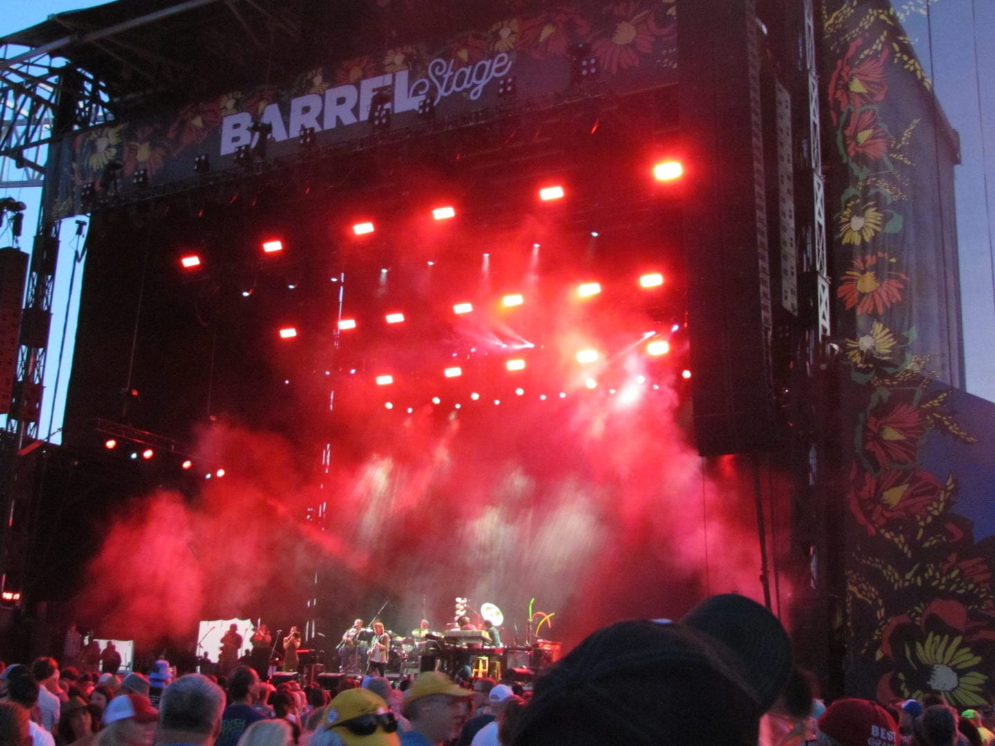 A far view of Trey Anastasio and his band