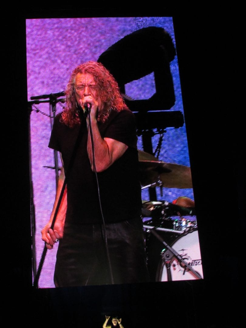 Robert Plant from the screen