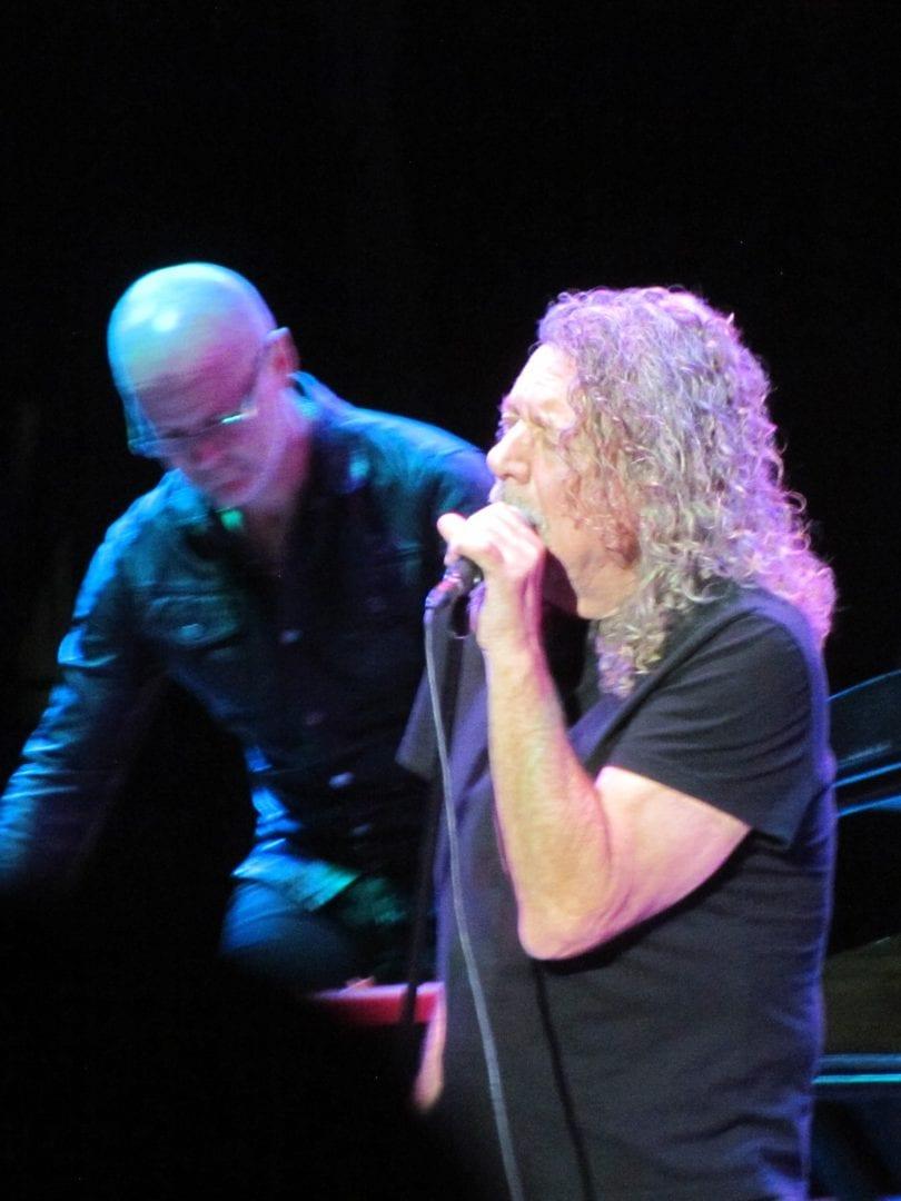 Robert Plant in his black shirt