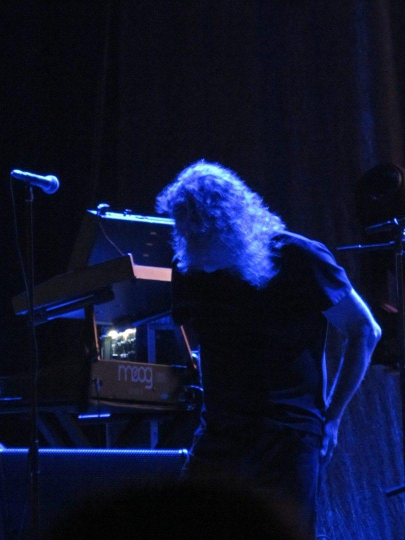 Robert Plant lit by the blue lighting