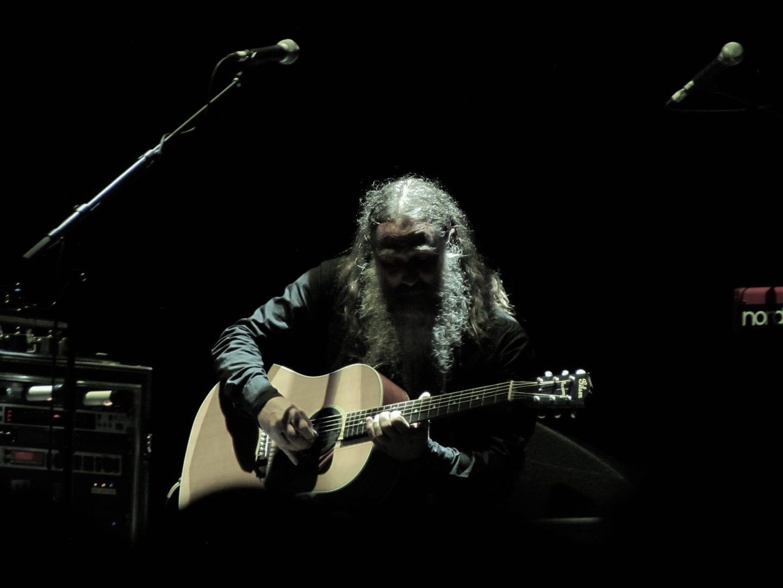 A guitarist in the dark