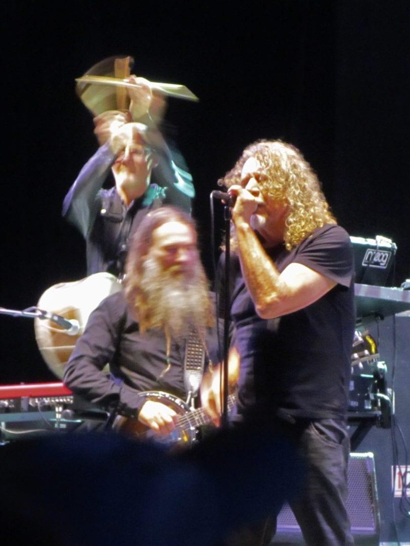 Robert Plant doing his music