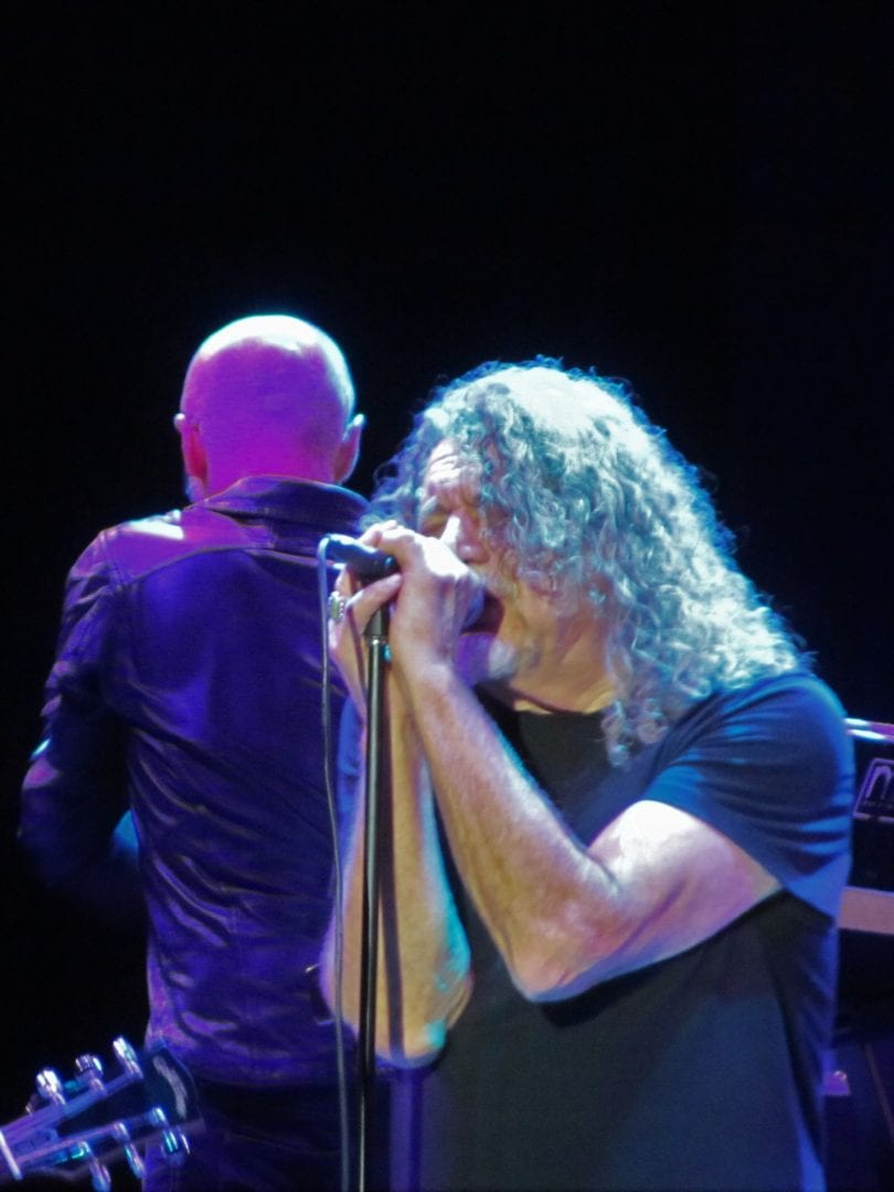 Robert Plant singing a song