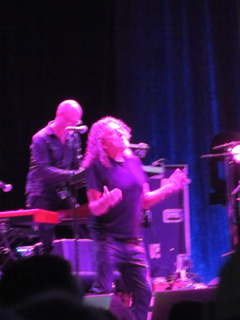 Robert Plant during his performance